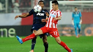 Olympiacos 2-0 Manchester United: the story in photos