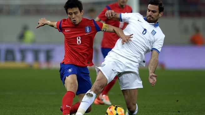 Greece undone by positive South Korea