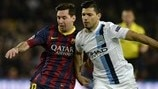 Back in 2014: Barcelona brush Manchester City aside