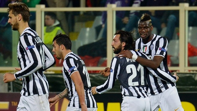 Brilliant Pirlo takes Juve past ten-man Fiorentina