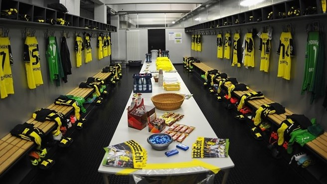 Borussia Dortmund dressing room - UEFA Champions League
