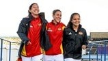 Christen Press, Verónica Boquete & Malin Diaz (Tyresö FF)
