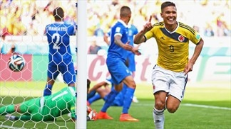 Greece picked off by vibrant Colombia
