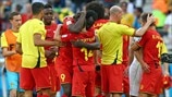 Belgium players celebrate
