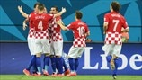 Croatia players celebrate