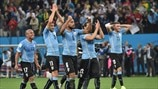 Uruguay players celebrate