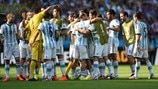 Argentina players celebrate