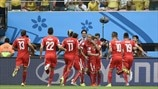 Switzerland players celebrate