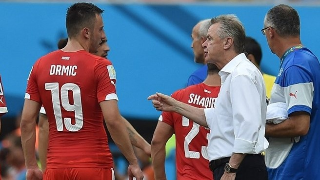 Hitzfeld welcomes more Swiss stress