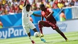 Asamoah Gyan (Ghana) & William Carvalho (Portugal)