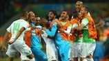 Algeria players celebrate