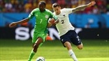 Ahmed Musa (Nigeria) & Mathieu Debuchy (France)