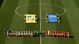 Argentina and Switzerland players line up