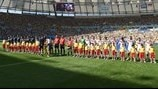 France and Germany players line up