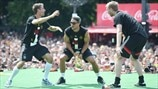 Thomas Müller, Lukas Podolski & Per Mertesacker (Germany)