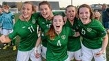 Katie McCabe, Clare Shine, Laruen Dwyer, Chloe Mustaki and Ciara O'Connell (Republic of Ireland)