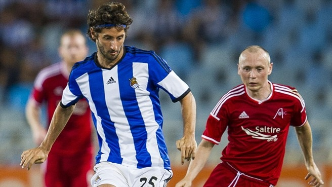 Esteban Granero (Real Sociedad de Fútbol) & Willo Flood (Aberdeen FC)