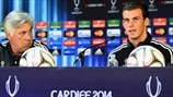 Ancelotti and Bale speak to media