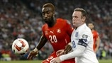 Johan Djourou (Switzerland) & Wayne Rooney (England)