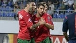 Bulgaria players celebrate