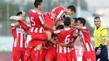 Olympiacos FC celebrate