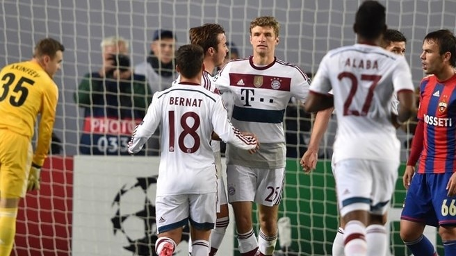 Müller makes difference for Bayern at CSKA
