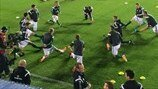 Northern Ireland warm up