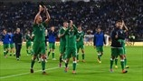 Republic of Ireland players celebrate