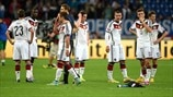 Germany players look dejected