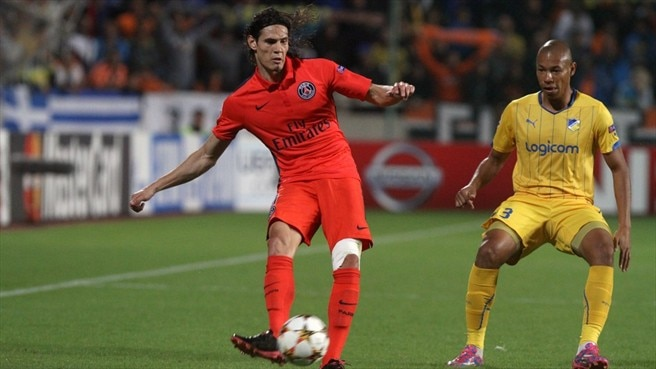 Cavani ensures Paris patience pays off at APOEL