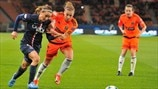 Kosovare Asllani (Paris Saint-Germain) & Nicola Docherty (Glasgow City FC)