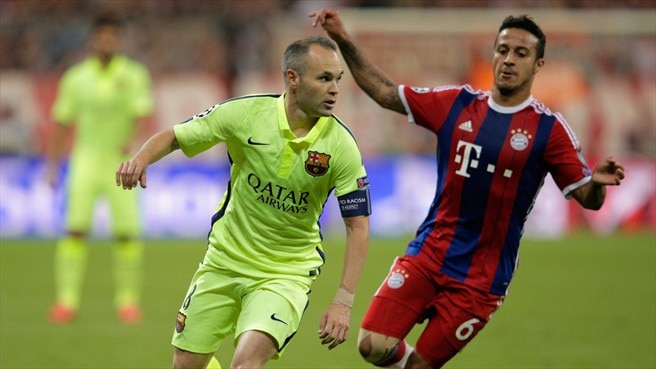 Image result for Andres Iniesta and Thiago Alcantara