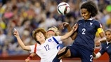 Yoo Younga (Korea Republic) & Wendie Renard (France)