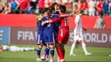 Japan players celebrate