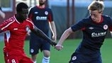 Chris Forrester (Saint Patrick's Athletic FC) & Ivan Murillo (Skonto FC)