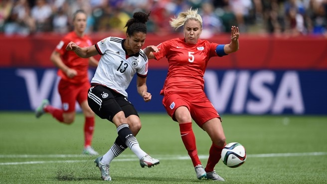 Célia Šašić (Germany) & Steph Houghton (England)