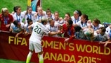 USA players celebrate