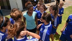 Laura Georges at Women's Under-19 in Israel