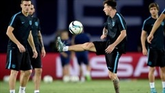 Watch Messi train in Tbilisi