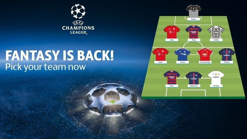 Pick your Fantasy Football team | UEFA Champions League ...