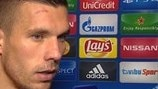 Podolski joy at Galatasaray win