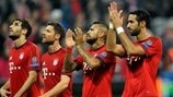 Bayern players celebrate