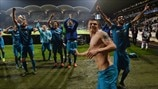 Zenit players celebrate