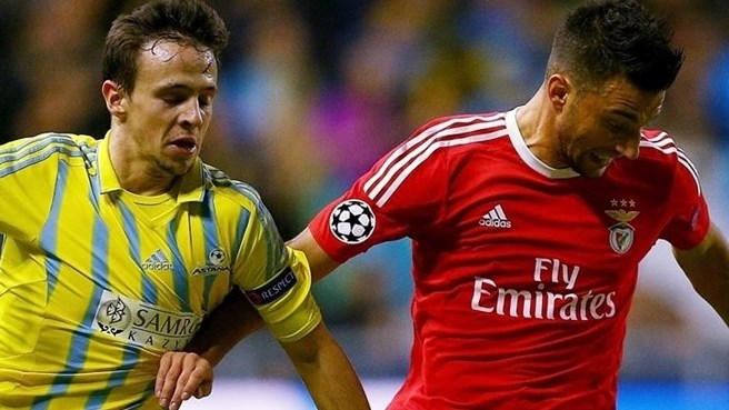 Benfica fight back to progress and eliminate Astana