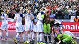 Russia players celebrate