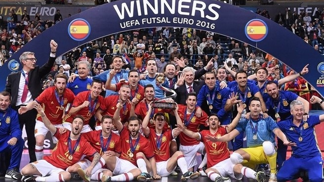 Spain hit seven for seventh UEFA Futsal EURO title