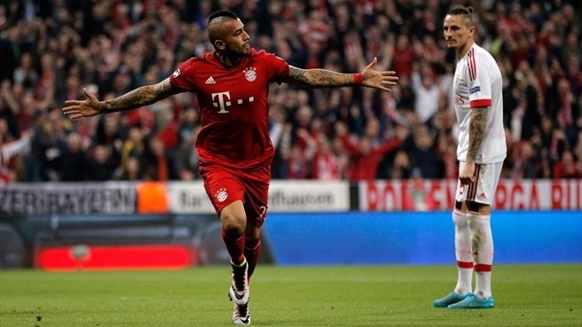 Vidal gives Bayern the edge against Benfica