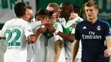 Background: Real Madrid v Wolfsburg