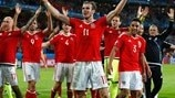 Watch Wales celebrate their win over Belgium