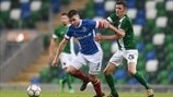 Stephen Lowry (Linfield) & Garry Buckley (Cork)